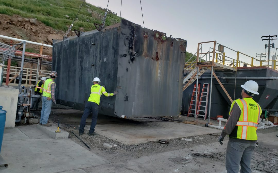 Orion Completes Clarifier Installation on San Clemente Island
